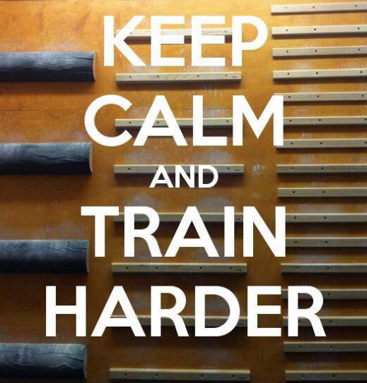 kee calm and train harder